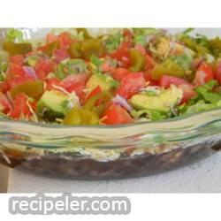 Manda's Seven Layer Taco Dip
