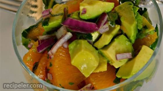 Mandarin Orange, Cilantro, and Avocado Salsa