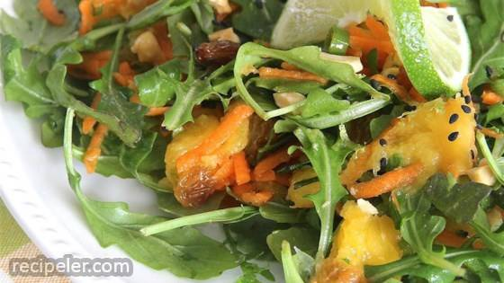 Mango, Carrot, and Arugula Salad