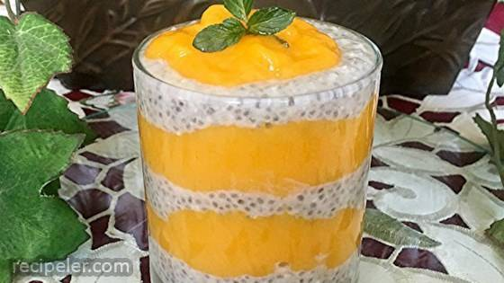 Mango, Coconut, and Chia Seed Pots