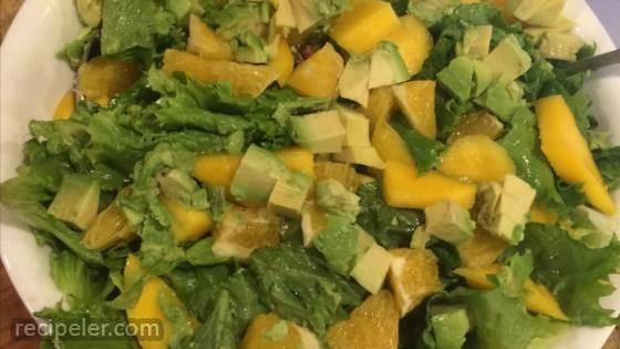Mango, Orange, Grapefruit, Avocado, and Pistachio Salad