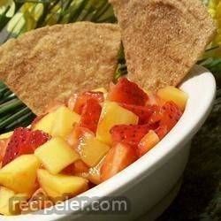 mango-strawberry salsa