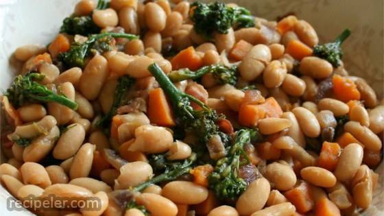 Maple Cannellini Bean Salad with Baby Broccoli and Butternut Squash