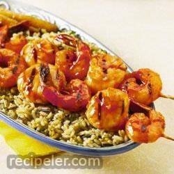 Maple-Orange Shrimp and Scallop Kebobs