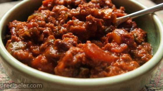 Meat-Lovers' Vegetarian Chili