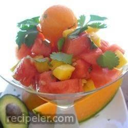 Melon, Mango, and Avocado Salad