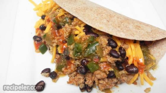 Mexican Black Bean and Turkey Wraps