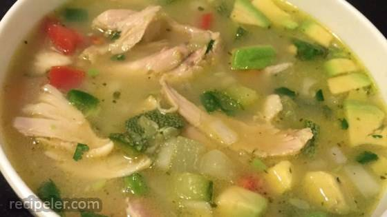 Mexican Chicken and Rice Soup (Sopa de Pollo y Arroz)