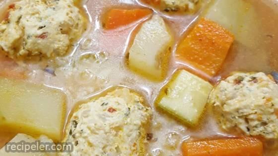 Mexican Chicken Meatball Soup (Sopa de Albondigas de Pollo)