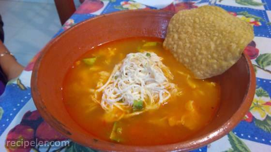 Mexican Chicken Soup with Garbanzo Beans (Caldo Tlalpeno)