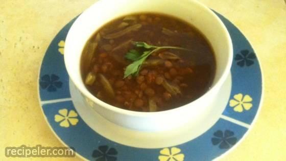 Mexican Lentil Soup with Cactus