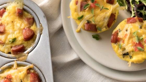 mini frittatas with hillshire farm® smoked sausage and potato
