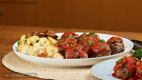 Mini Meatloaves And Roasted Veggies