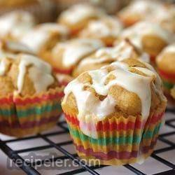 Mini Pumpkin Muffins with Orange Drizzle