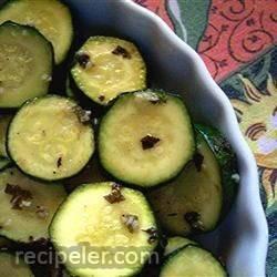 Minted Marinated Zucchini