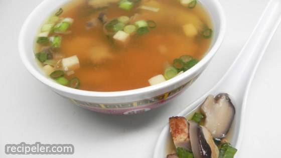 Miso, Chicken, and Green Onion Soup