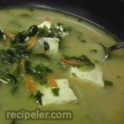 ... soup miso soup beans with seasoned seaweed miso soup with bean curd