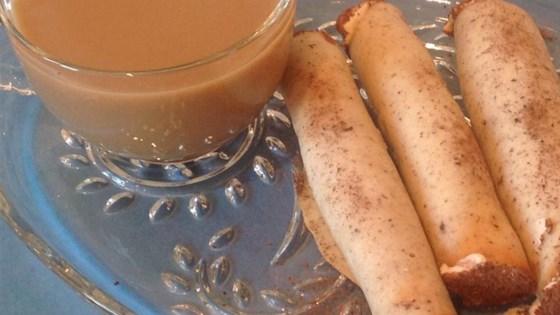 mocha cigars with coffee cream