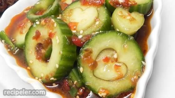 Mom's Spicy Cucumber Kimchee