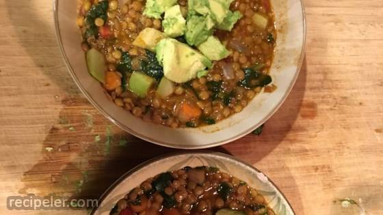 Moroccan Lentil Soup with Veggies