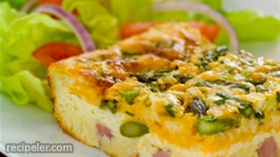 mpossibly Easy Ham and Asparagus Pie