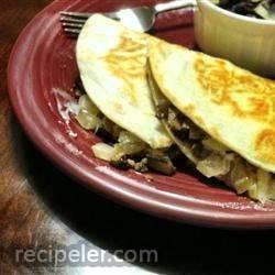 Mushroom and Goat Cheese Quesadillas