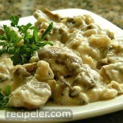 Mushroom Cream Sauce With Shallots