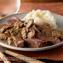 Mushroom Smothered Steak