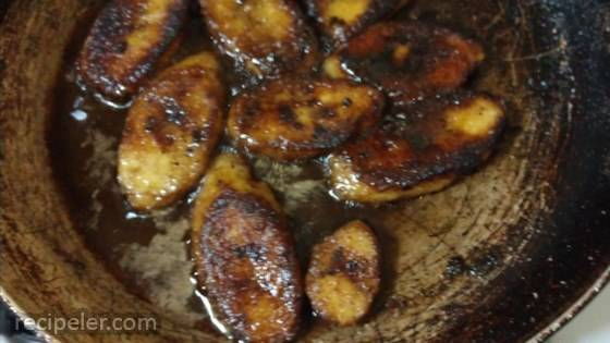 My Mum-n-Law's Lightly Fried Plantains