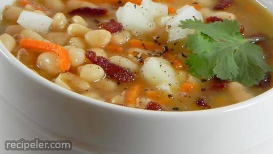 my navy bean soup clean and sort the beans place them in a large bowl ...