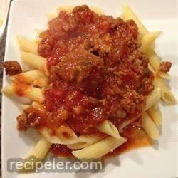 Nana's Slow Cooked Meaty Tomato Sauce