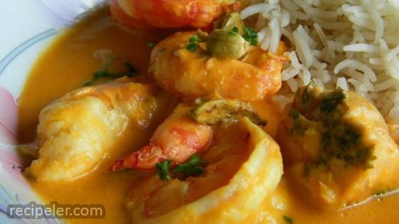 ndian Shrimp Curry