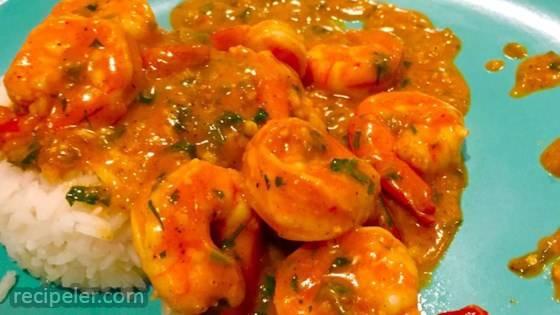 ndian Stir-Fried Shrimp in Cream Sauce (Bhagari Jhinga)