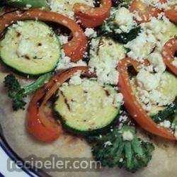 ndividual Grilled Veggie Pizzas