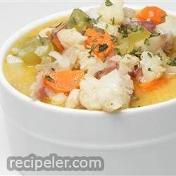 Nichole's Chicken Cauliflower Soup