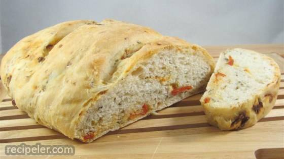 No-Knead Sun-dried Tomato Garlic Basil Bread