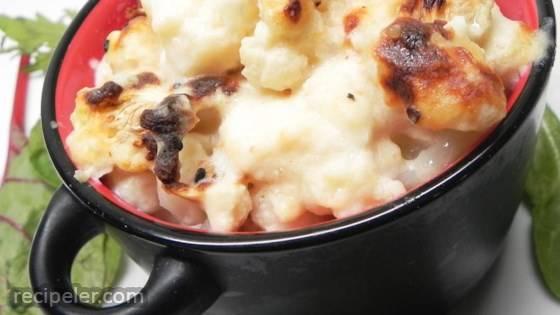Northern talian Cauliflower Gratin