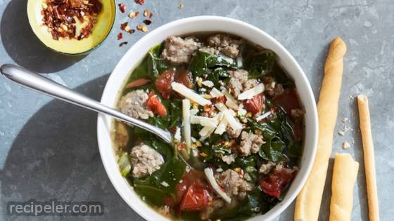 Now-or-Later Spicy Sausage Soup