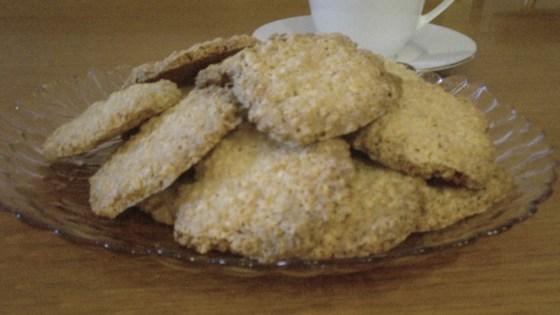 oatmeal coconut thin crisps