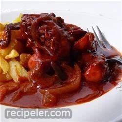 Octapodi Kokkinisto (Greek Octopus in Tomato Sauce)