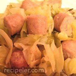Oklahoma Comfort Food: Brats, Cabbage and Green Bean Casserole