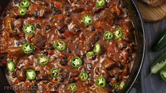 Oklahoma Ranchers Steak Chili Dip