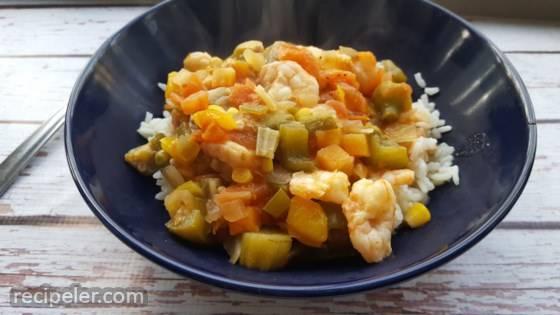 Okra Stew with Shrimp