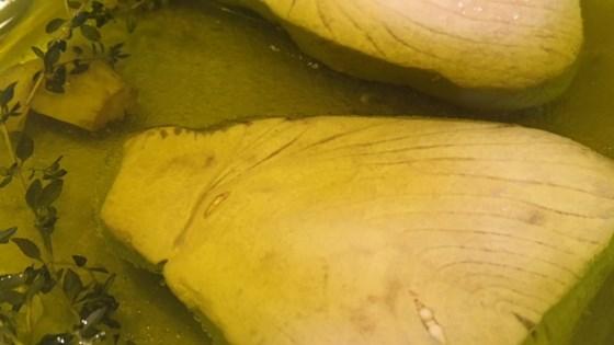 olive oil-poached tuna