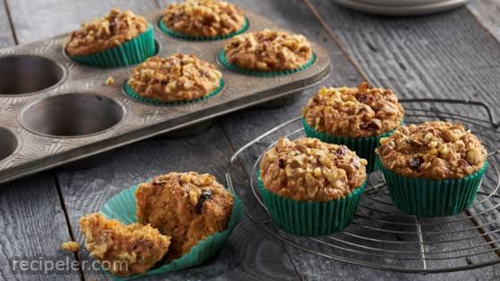 One-Bowl Carrot Oat Muffins