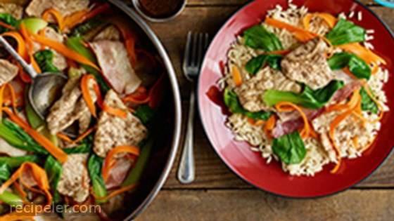 One Pot Asian Braised Pork & Bacon