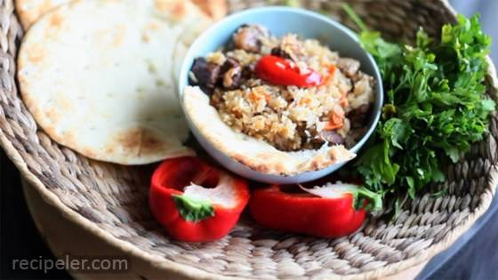 One-Pot Rice and Beef Pilaf