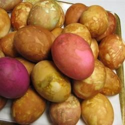 onion skin colored eggs