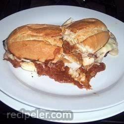 Open-Faced Broiled Roast Beef Sandwich