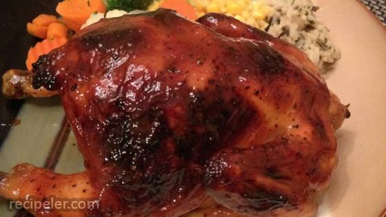 orange cornish hen for two